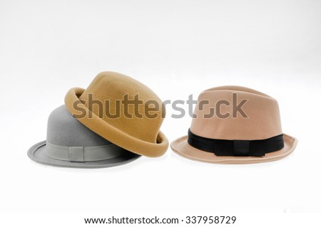 Stacked fedora female hat  - stock photo