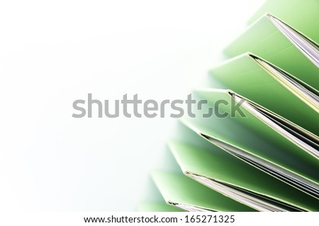 stacked file. - stock photo