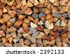 stacked logs - stock photo