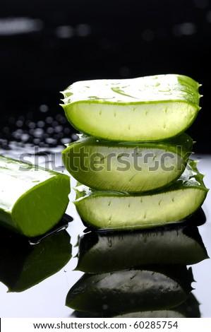 Stacked of slice sloe - stock photo