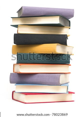 Stacked old books - stock photo
