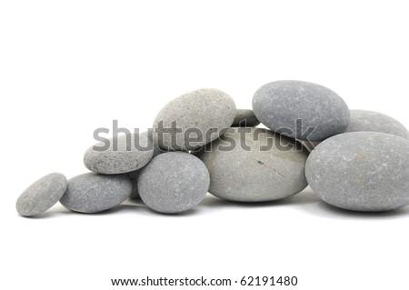 Stacked stones - stock photo