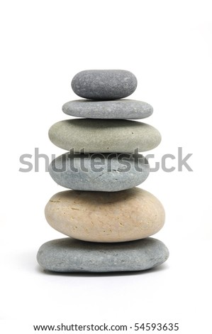 Stacked stones isolated