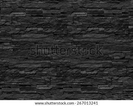 stacked stones wall - stock photo