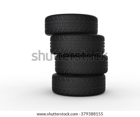Stacked Tires - stock photo