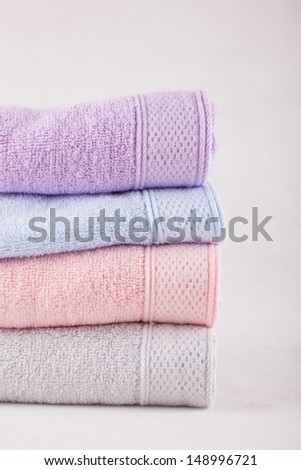 stacked towel