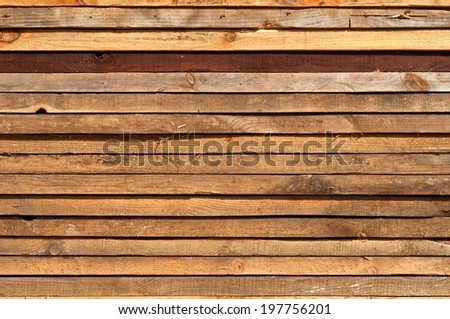 Stacked Wooden Boards Texture For Your Design. - stock photo
