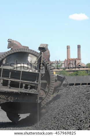 Stacker  coal exploration and machine