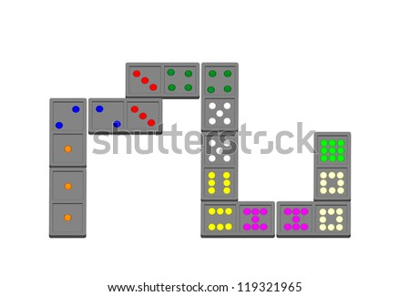 Stacking Color Domino - stock photo