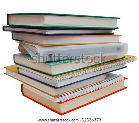 stacking homework books stock photo 52536373 - shutterstock