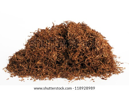 Stacking snuff to pipe smoking - stock photo