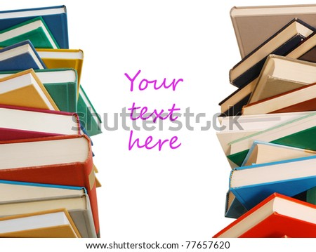 Stacks of books on decorating - stock photo