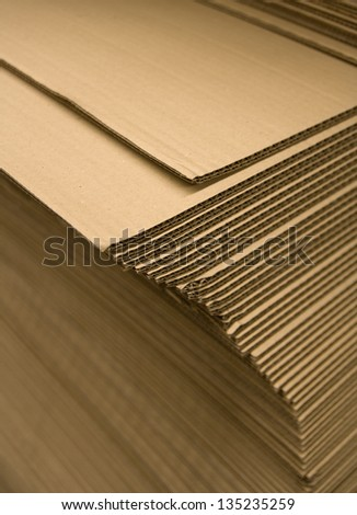 Stacks of cardboard - stock photo