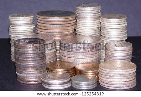 stacks of coins - stock photo
