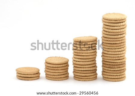 Stacks of cookies as the diagram