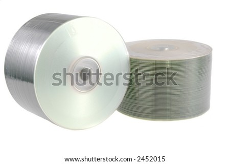 stacks of disks isolated on white