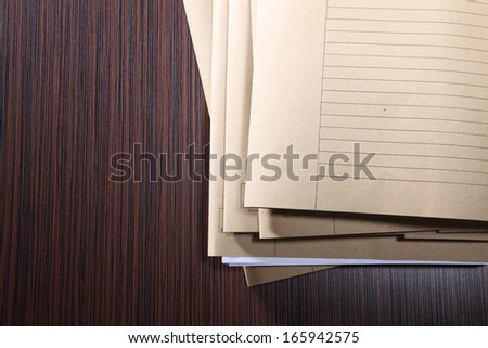 stacks of files waiting for solve - stock photo
