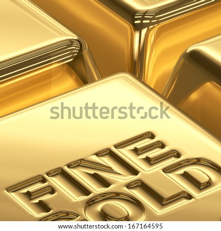 stacks of gold bars background - stock photo