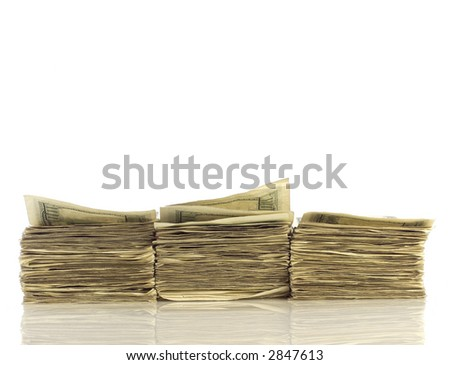 Stacks of money - stock photo
