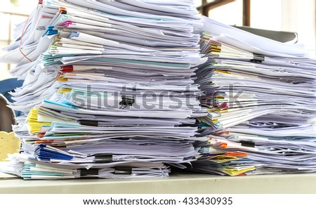 Stacks of paper - stock photo