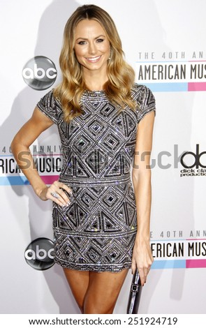 Stacy Keibler at the 40th Anniversary American Music Awards held at the Nokia Theatre L.A. Live in Los Angeles, California, United States on November 18, 2012.