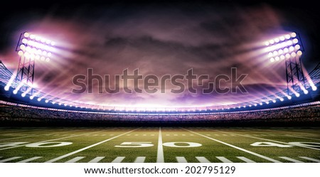 stadium american - stock photo