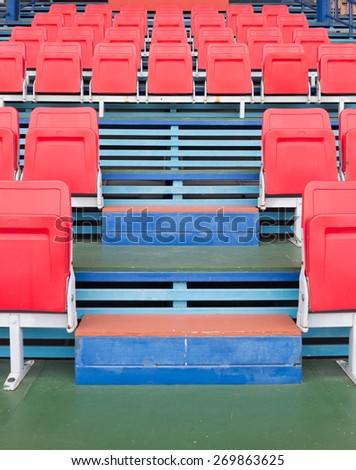 Stadium and red  seats - stock photo