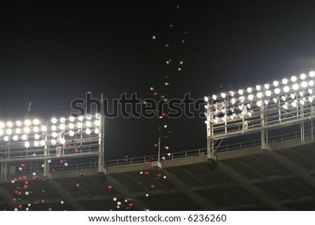 Stadium Balloons - stock photo