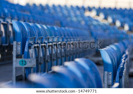 Stadium bleacher seats