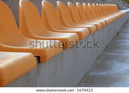 Stadium chairs - stock photo
