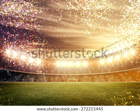 Stadium confetti - stock photo