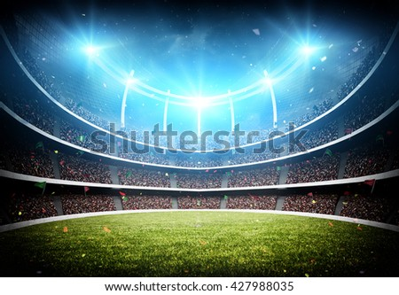 stadium 3d - stock photo