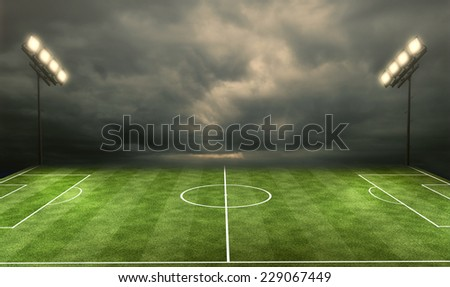 Stadium football - stock photo
