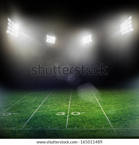 stadium in lights and flashes