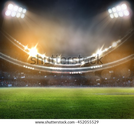stadium in lights 3d.