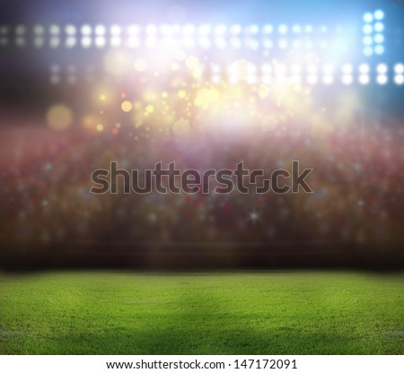 stadium light, - stock photo