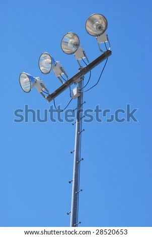 Stadium lights - stock photo