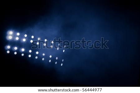 Stadium lights - stock photo