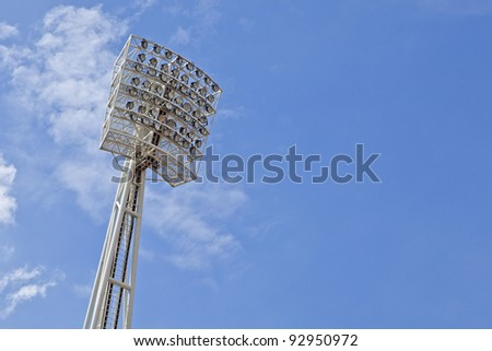 Stadium lights on the sky - stock photo