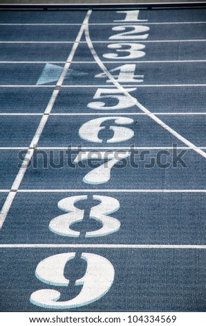 Stadium Marking with numbers - stock photo