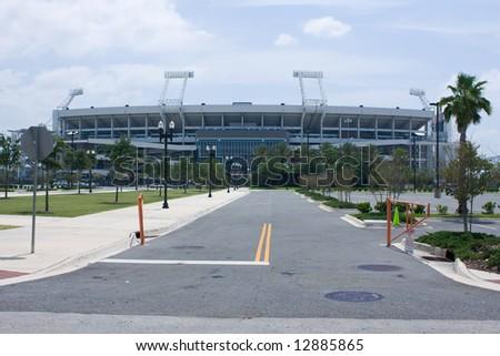 stadium near downtown Jacksonville, Florida - stock photo