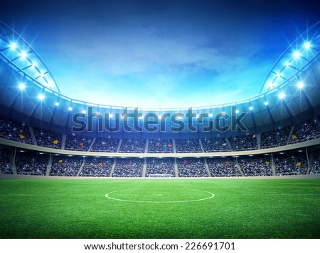Stadium night - stock photo