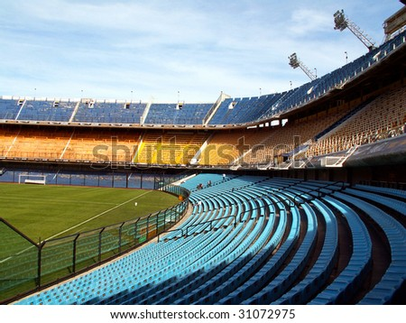 Stadium of Boca Juniors football team in Buenos Aires - stock photo