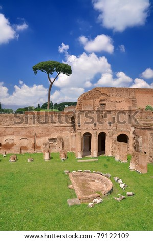 Stadium of Domitian on Palatine Hill, Rome Italy