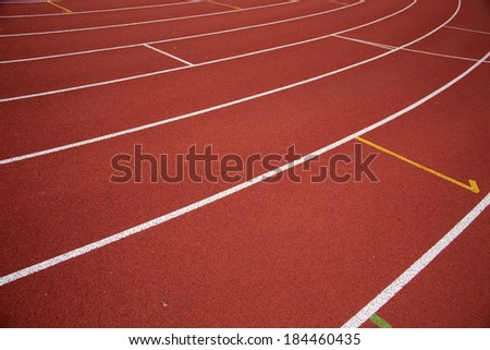 Stadium runway/Athletics track