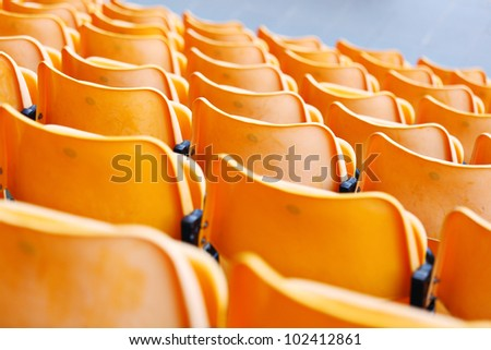 stadium seat - stock photo