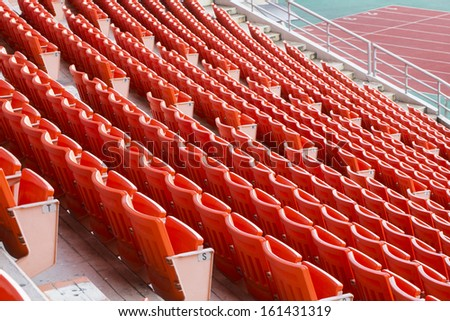 stadium seat  - stock photo