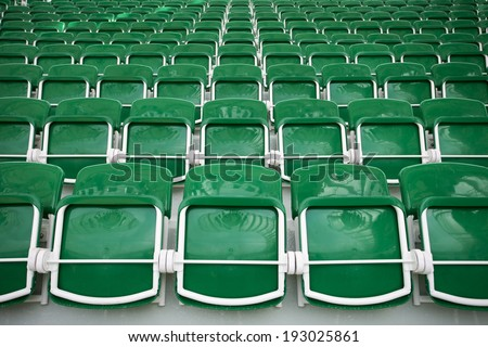 Stadium seats background - stock photo