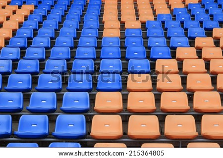 Stadium seats for sport football - stock photo