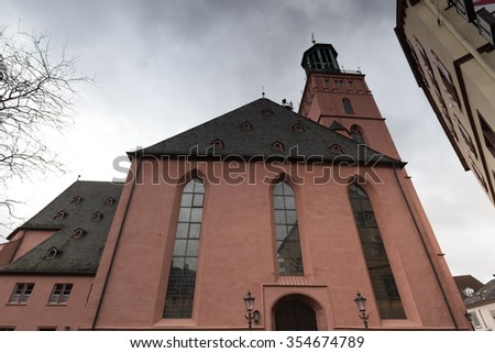 stadtkirche church darmstadt germany - stock photo